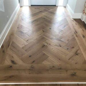 Custom Aged Wood Flooring Installation - Bedard and Sons Installations_2